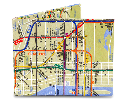 Mighty Wallet - NYC Subway Map